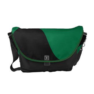 Bolso negro y verde del Smooch Bolsa De Mensajeria