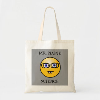 Bolso Nerdy del Emoticon del profesor Bolsa Tela Barata