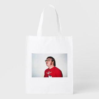 Bolso o algo de ultramarinos reutilizable bolsas de la compra