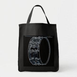 Bolso o la bolsa de asas de compras del tambor o d
