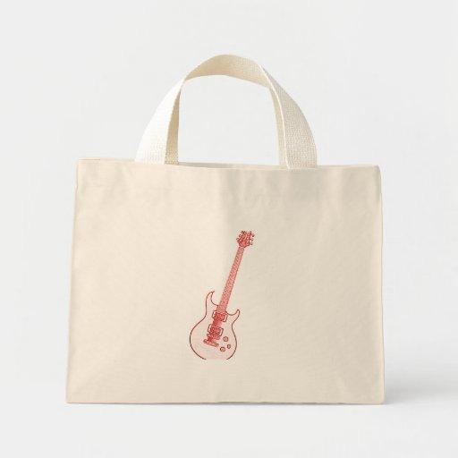 Bolso o la bolsa de asas de la imagen de la guitar