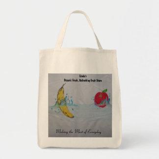 Bolso orgánico de la tienda de la fruta bolsa tela para la compra