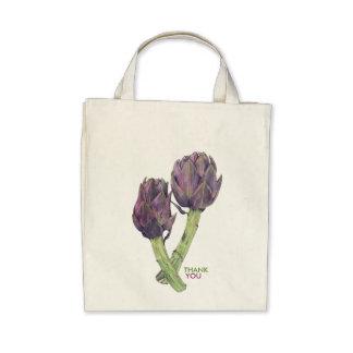 Bolso orgánico púrpura de los favores de fiesta de bolsa de mano