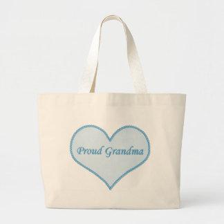 Bolso orgulloso de la abuela azul bolsas lienzo