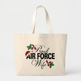 Bolso orgulloso del acebo del navidad de la esposa bolsas