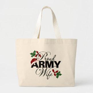 Bolso orgulloso del acebo del navidad de la esposa bolsa de mano