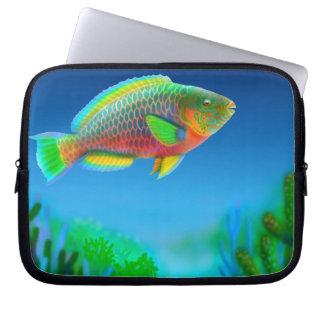 Bolso pacífico de la electrónica del pez papagayo funda ordendadores