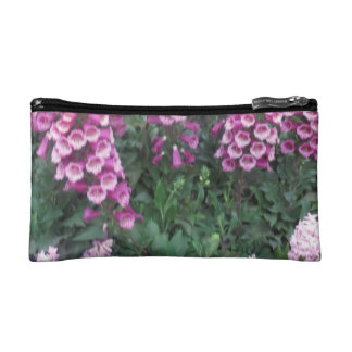 Bolso para las flores blancas púrpuras del retoque