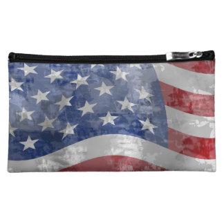 Bolso patriótico del cosmético de la bandera ameri