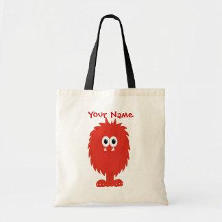Bolso peludo rojo del monstruo bolsa tela barata
