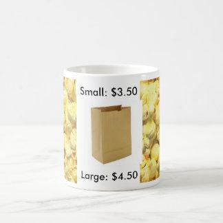 Bolso pequeño y grande de las palomitas - taza