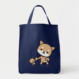 Bolso - perrito con un perrito relleno bolsa tela para la compra