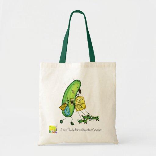 bolso personal del pepino de la ayuda bolsas de mano