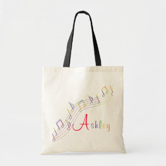 Bolso personalizado arco iris de la música bolsa tela barata