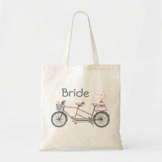 Bolso personalizado boda en tándem de la bicicleta
