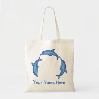 Bolso personalizado círculo del delfín bolsas de mano