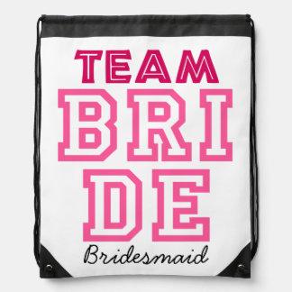 Bolso personalizado de la novia del equipo mochila