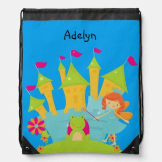Bolso personalizado de la princesa y de lazo del mochilas