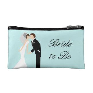 Bolso personalizado del cosmético del boda de la n