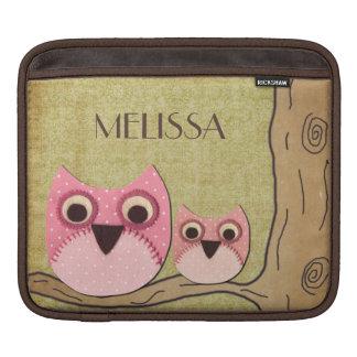 Bolso personalizado femenino Macbook de los búhos  Funda Para iPads
