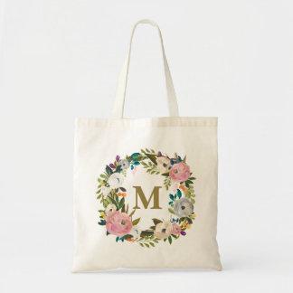 Bolso personalizado floral pintado de la lona del bolsa tela barata