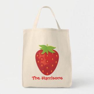 Bolso personalizado fresa bolsa tela para la compra