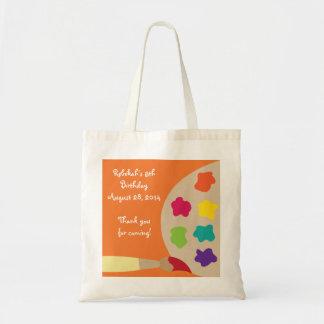 Bolso personalizado paleta del arte - naranja bolsas lienzo