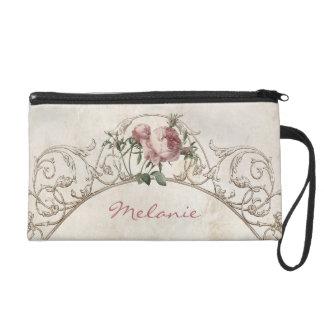 Bolso personalizado rosas rosados franceses antigu