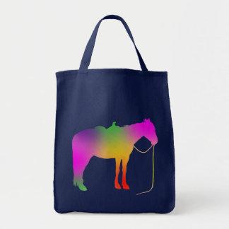 Bolso pintado arco iris del caballo bolsa tela para la compra