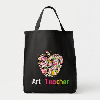 Bolso pintado de Apple del profesor de arte Bolsa Tela Para La Compra