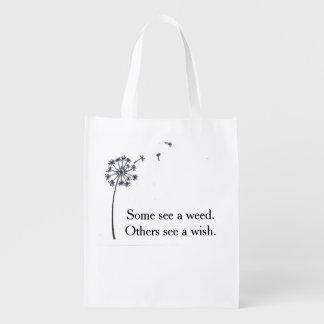 Bolso plegable reutilizable - deseo del diente de bolsas de la compra