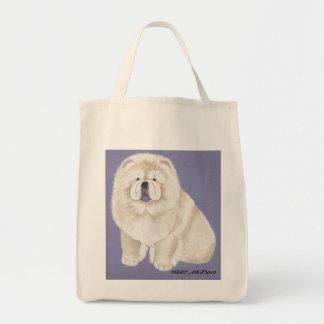 Bolso poner crema de los perros chinos bolsa tela para la compra
