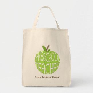 Bolso preescolar del profesor - Apple verde Bolsa Tela Para La Compra