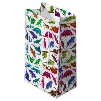 Bolso prehistórico colorido del regalo de los bolsa de regalo pequeña