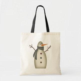 Bolso primitivo del muñeco de nieve bolsas de mano