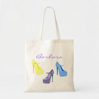 Bolso protector del zapato del tacón alto colorido bolsa tela barata