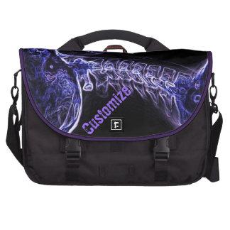 Bolso púrpura/azul del ordenador portátil del viaj bolsas de portátil
