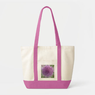 Bolso púrpura de la alcachofa bolsa tela impulso