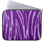 Bolso púrpura de la electrónica del estampado de a funda ordendadores
