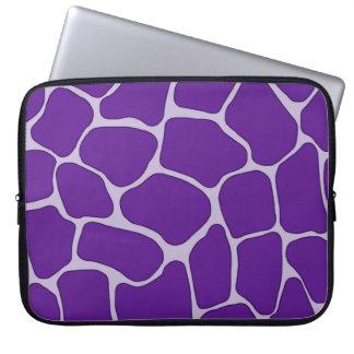 Bolso púrpura de la electrónica del estampado de g mangas computadora