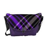 bolso púrpura de la tela escocesa bolsas de mensajería