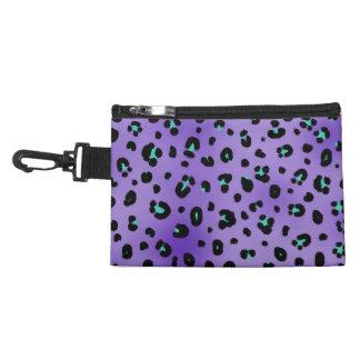 Bolso púrpura del accesorio del estampado leopardo