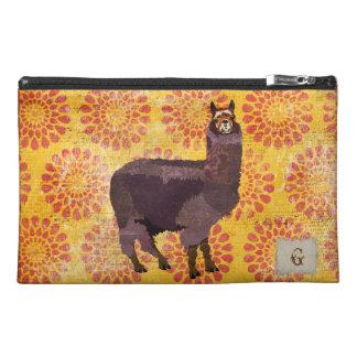 Bolso púrpura del accesorio del viaje de la alpaca