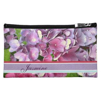 Bolso púrpura del cosmético del Hydrangea