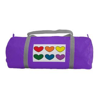 bolso púrpura del gimnasio del #DAL con 6 Bolsa De Deporte