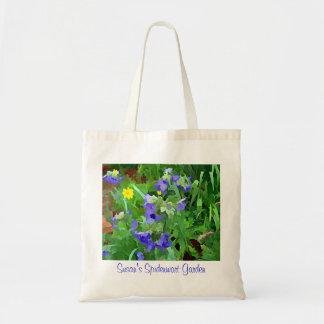 Bolso púrpura del jardín de la flora del Spiderwor Bolsas De Mano