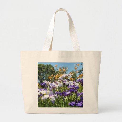 Bolso púrpura del jardín del iris bolsas
