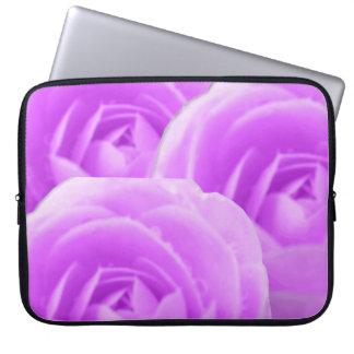 Bolso púrpura del ordenador portátil de la camelia funda computadora
