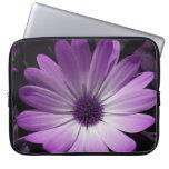 Bolso púrpura del ordenador portátil de la flor de funda ordendadores