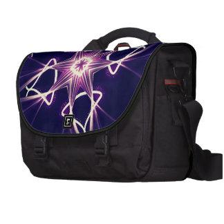 Bolso púrpura del ordenador portátil de la impresi bolsa de ordenador